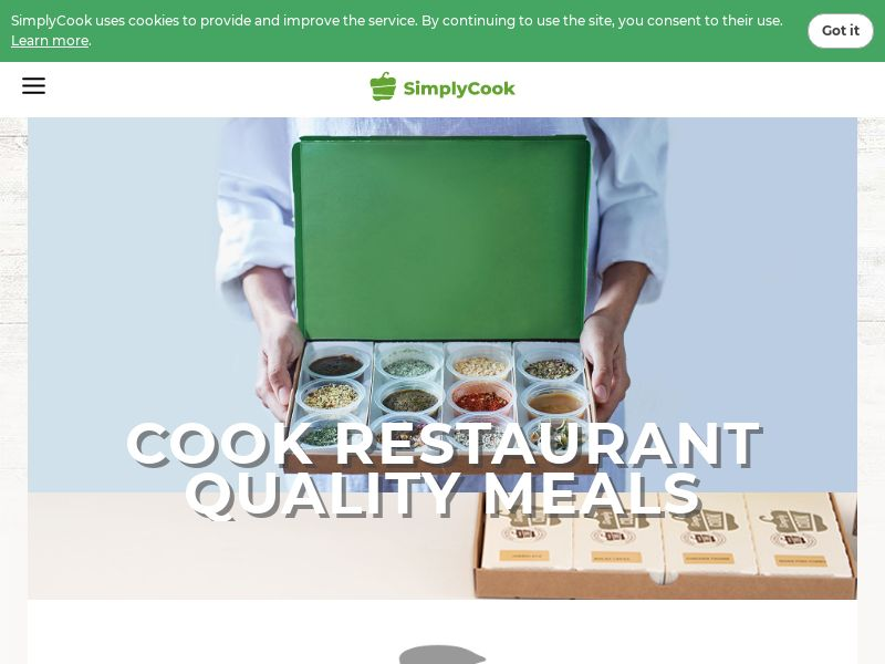 Simply Cook - Trial Box - INCENT - UK
