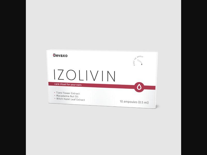 IZOLIVIN – DE – CPA – hearing loss – ear oil ampoules - COD / SS - new creative available