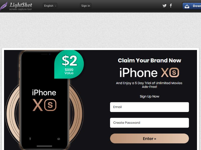 Combo Popcorn Win iPhone Xs Black Bonus - Trial - US