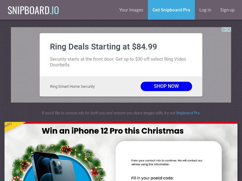 YouSweeps - Win iphone 12 pro christmas NZ - SOI