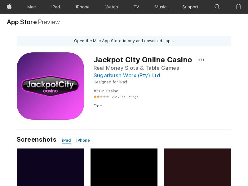 Jackpot City Online Casino - iOS (CA) (CPA) (Incent) (Personal Approval)