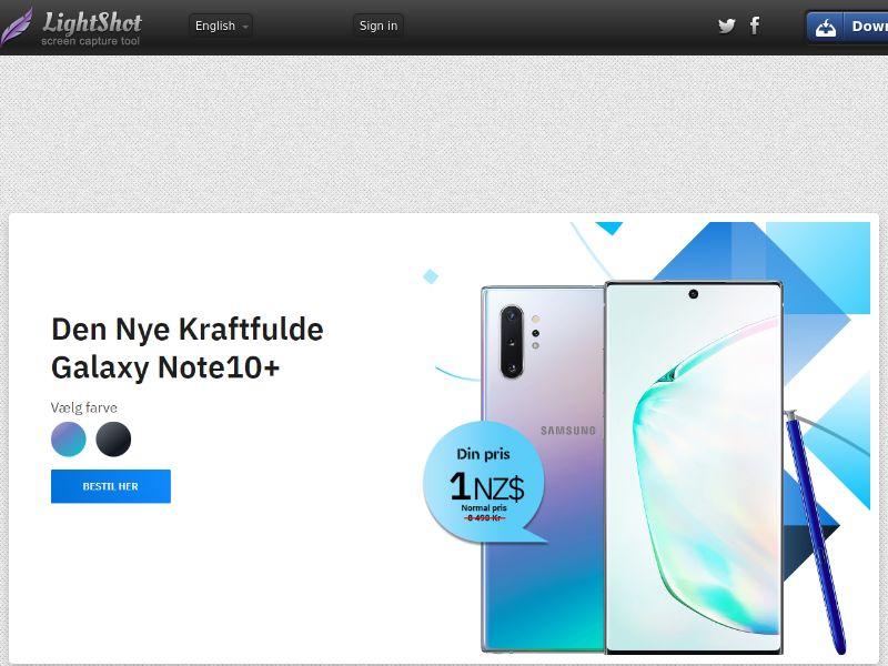 winlotsofthings Galaxy Note10+ (Sweepstake) (CC Trial) - Denmark [DK]