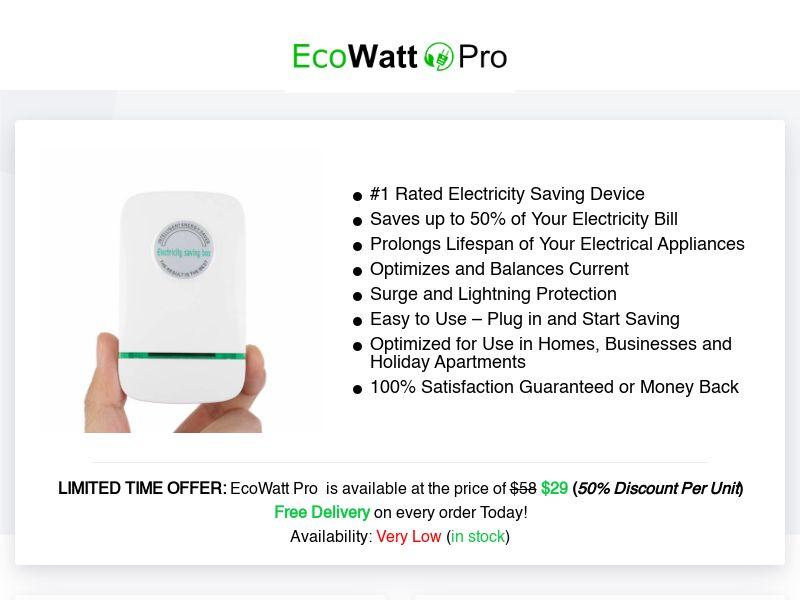 EcoWatt Pro (INTL) (CPS) (Personal Approval)